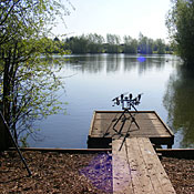 One of the swims at Thorpe Lea Fishery ready for anglers.